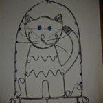 Kočka | Výrobky z výtvarné dílny | Drátování