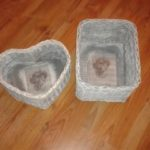 Košíky | Výrobky z výtvarné dílny | Pletení z papíru