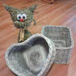 Košíky - zajíc | Výrobky z výtvarné dílny | Pletení z papíru