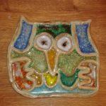 Podložka sova | Výrobky z keramické dílny | Keramika a sklo